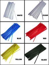 """100 Moisture resistant Twist WIRE Ties 5/32"""" Reusable CHOOSE Color & Length"""