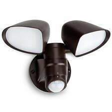 16W Dual-head LED Outdoor Security Light, ETL-Listed, 5000K Daylight-Bronze