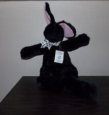 "Vtg North American Bear Co Black  Bunny Rabbit Long Hare Rare Toy Plush 22"" 1991"