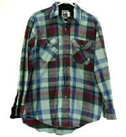 KeyStone Casuals Men's Large Long Sleeve Flannel Two Front Pockets Plaid