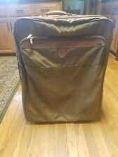 """Vintage Hartmann 27"""" Belting Leather Nylon Rolling Wheeled Travel Bag Luggage"""