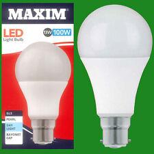 10x 13W (= 100W) GLS BC B22 A60 LED Lámpara Bombilla, 6500K Luz Blanco 1520Lm