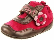 NIB Robeez Shoes Mini Shoez Booties Tilly Rhododendron Pink Brown 3-6m 2