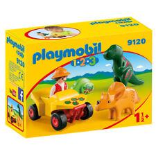 PLAYMOBIL 1 2 3 explorateur avec Dinos 9120 nouveau