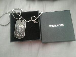 Men's Police Pendant Necklace Skull