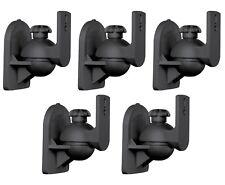 5 Pack Lot - Satellite Speaker Black Wall Mount Brackets fits Bose Jewel Cube