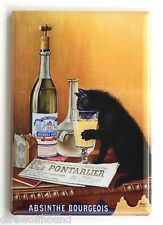 Absinthe Black Cat FRIDGE MAGNET (2.5 x 3.5 inches) bourgeois alcohol poster