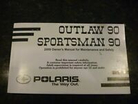 NEW OEM FACTORY 2009 Polaris Sportsman 90 Outlaw 90 Owners Manual 9922573