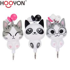 Cute Cartoon Cat Panda 3.5mm Retractable Headset MP3 MP4 Earphones Earbuds Gifts