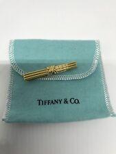 Estate Tiffany & Co Signature Tie/Money Clip Solid 18k Gold Pre-Owned Circa 1992