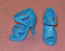 BARBIE SIZE SHOES-BABY BLUE ANKLE STRAP HIGH HEELS