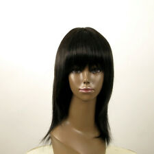 perruque AFRO femme 100% cheveux mi longue naturel noir KOKO 01/1b