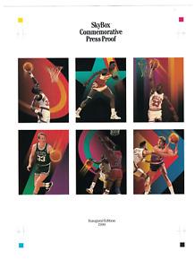 1990 SKYBOX Basketball Commemorative Press Proof Sheet MICHAEL JORDAN,LARRY BIRD