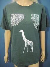 XXL dark green & white Abstract animal Retro Giraffe t-shirt by Port & Company