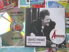 David Mead ‎– Mine And Yours RCA Victor  UK Promo CD Single