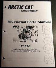 2007 ARCTIC CAT SNOWMOBILE Z 370 PARTS MANUAL P/N 2257-736 NEW  (516)