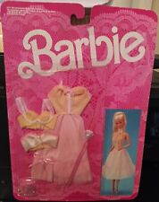 Nrfc Barbie Fancy Frills Yellow Pink & White Lingerie With Pink O/T Mules Mip
