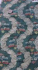 Antique French 18thC Floral & Lace Silk Brocaded Textile Fabric