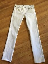 Citizens of Humanity White Ava Low Rise Straight Leg Jeans Sz 27x33 Tall