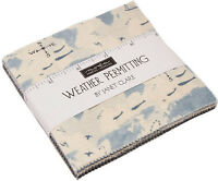 "Weather Permitting Moda Charm Pack 42 100% Cotton 5"" Precut Fabric Quilt Squares"