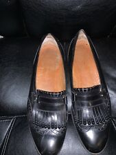 Salvatore Ferragamo Wingtip Oxford Brogue Shoes Mens Size 12 D Black Leather