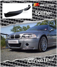 Carbon Fibre Front Spoiler Splitters fits BMW E46 M3 Coupe with CSL Bumper only