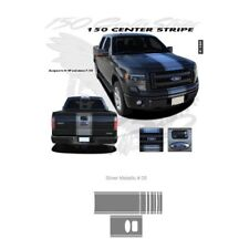 Ford F-150 2009 up Center Stripe Graphic Kit - Metallic Silver