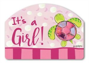 Yard Designs It's a Girl Baby Birth Magnetic House Garden Sign Marker 14x10