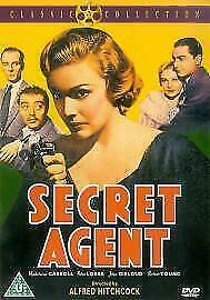 Secret Agent DVD 1936 Alfred Hitchcock Mystery Movie - Madeleine Carroll RARE
