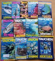 12x Tauchen 2017 Jahrgang Zeitschrift Sport Meere Tiere Urlaub Tauchzeitschrift