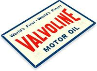 Valvoline Motor Oil Decor Wall Art Gas Garage Shop Metal Tin Sign