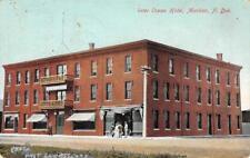 Inter Ocean Hotel Mandan, North Dakota Old Bicylce Vintage 1909 Postcard