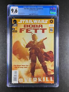 Star Wars Boba Fett Overkill nn CGC 9.6 Dark Horse 03/06 Adam Hughes Cover