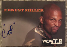 """1998 Topps Ernest """"Cat"""" Miller WCW/NWO Wrestling Authentic Signatures Auto WWE"""