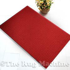 MAZE RED SQUARES DESIGN NON SLIP MODERN FLOOR RUG MAT 57x100cm **NEW**