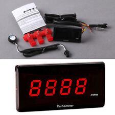 Universal Red LED Motorcycle Digital Tachometer 20000 RPM Gauge Warning Monitor