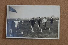 Mens sports Day race  lancashire Town real photo social History unposted   XC1