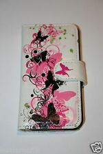 Cellphone Case Pink Butterfly Wallet Case for Apple iPhone 5C