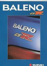 SUZUKI  BALENO GSR CAR DESIGN PACKAGES SALES BROCHURE JANUARY 2000