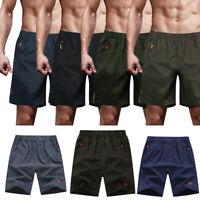 Mens Workout Shorts Spandex Gym Train Bodybuilding Exercise Quick Dry Short X629