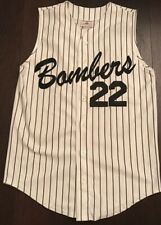 Bombers baseball jersey White Black Stripe vtg 90s Minor League College 🔥 Vest