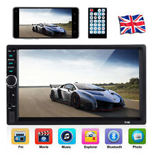 "2 Din Car Radio Stereo MP5 Player 7"" Bluetooth Touch Screen Support Mirror Link"