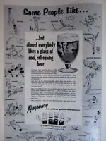 "1957 KINGSBURY  Original Regional Print Ad 8.5 x 11"""