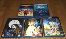 Disney 3D blu-ray lot of 5 - Beauty And The Beast Finding Nemo Tangled Wreck-It
