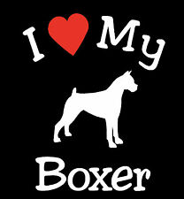 Pair of I Love My Dog BOXER Pet Car Decals Stickers Ready to Apply