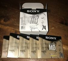 New listing (10) New Sealed Sony Premium Gold Minidisc 74 Minutes 2 Boxes (Md x 5 = 10) Nos