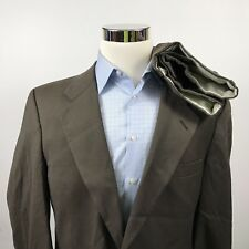 Vintage Burberry Mens 40R Suit 31 x 32 Pleated 100% Wool Two Button Dark Brown