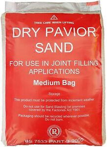 KILN DRIED BLOCK PAVING SAND JOINT FILLER BRUSHING IN 25KG Collection Only