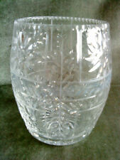 "Cut crystal vase with quality wheel cut decoration, numbered 70/32 under 6""tall"