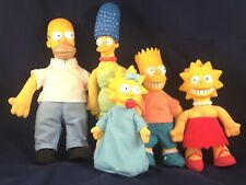 1990 THE SIMPSONS SET PLUSH STUFFED DOLLS VINYL HEAD FIGURES BART HOMER MAGGIE